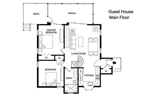 home plans with guest house adobe guest house plans cottage house plans