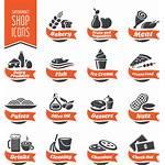 Supermarket Frozen Icons Clipart Dairy Clip Transparent
