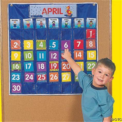 calendar pocket chart classroom homeschool new ebay 843 | 150563485 o