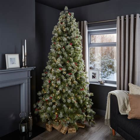 b and q artificial christmas trees 7ft 6in fairview pre lit pre decorated tree departments diy at b q