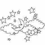Sky Coloring Pages sketch template