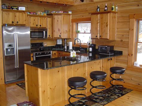 diy fireplace update with built in shelves on each log cabin kitchens with modern and rustic style