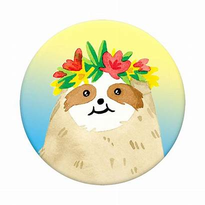 Sloth Aloha Popsocket Gradient Popsockets Popgrip Ow