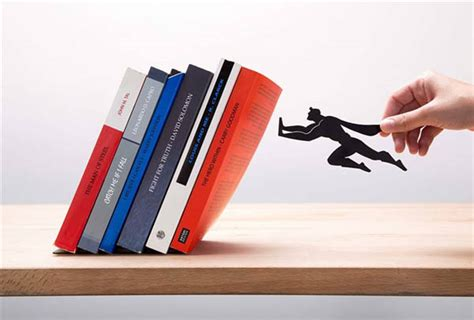 Whimsical Superhero Bookends And Floating Shelf By Artori