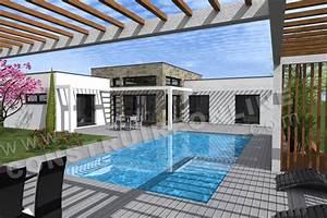 Pool House Toit Plat : le top du moment le plan de maison equation ~ Melissatoandfro.com Idées de Décoration