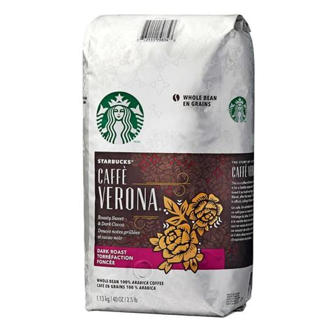Starbucks arabica beans are different from regular arabica beans. Starbucks Verona Whole Bean 100% Arabica Coffee 1.13 kg - Deliver-Grocery Online (DG), 9354-2793 ...