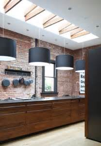 Kitchens And Interiors 25 Modern Kitchens And Interior Brick Wall Design Ideas