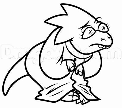Alphys Undertale Draw Step Drawing Characters Sheet