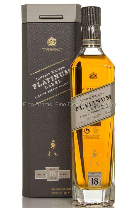 johnnie walker platinum label  year  blended whisky