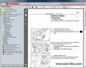 Toyota Rav4 Aca20  Zca25  Cla20  Repair Manuals Download