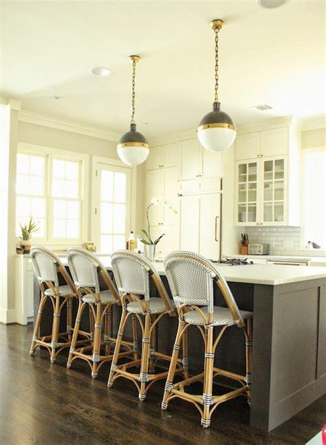 bistro counter stools transitional kitchen belmont