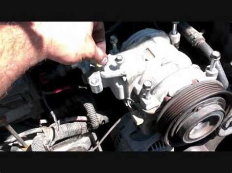 air condition compressor removal jeep grand cherokee youtube