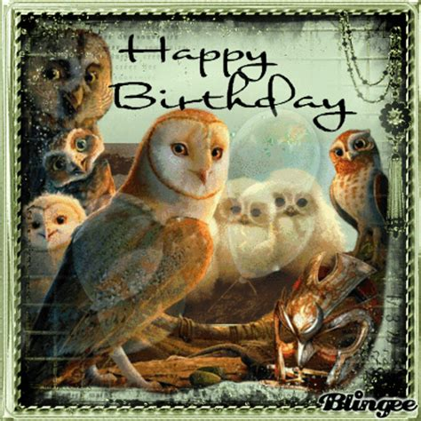 Happy Birthday Owl Images Owls Happy Birthday Picture 126762149 Blingee