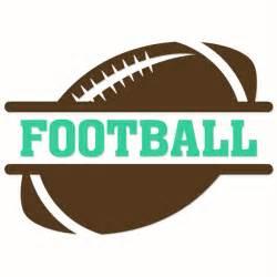 Football SVG Monogram Frame