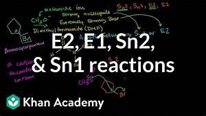Comparing E2 E1 Sn2 Sn1 Reactions Youtube