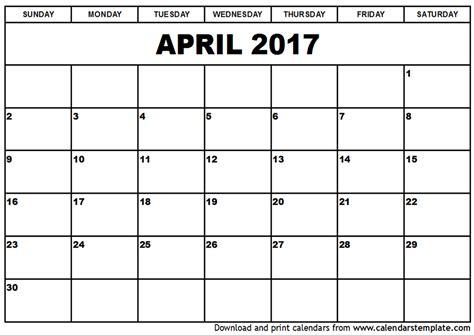 april si e social april 2017 calendar printable template