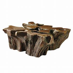 Root coffee table the green head for Outdoor trunk coffee table