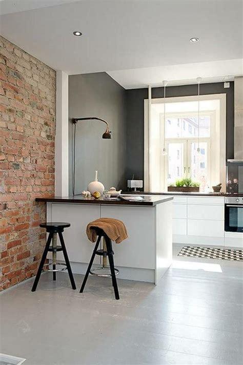 petit bar cuisine idée aménagement cuisine 50 intérieurs modernes