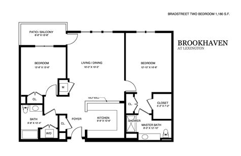 brookhaven apartment floor plans