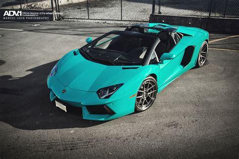 Lamborghini Aventador Roadster In Blue Glauco
