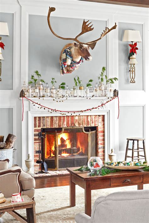 pictures    decorate  fireplace mantel