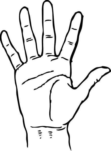 hand palm facing coloring page coloring sky