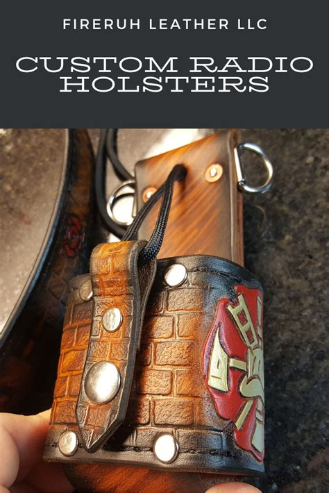 Firefighter Radio Holsters   Leather working, Leather ...