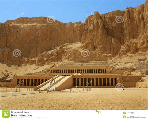 Temple Of Queen Hatshepsut Valley Of Kings Luxor Stock