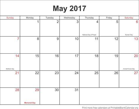 blank calendar template may 2107 printable calendar printable blank calendar org