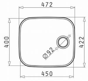Iris 450 Single Bowl Undermount Diagram