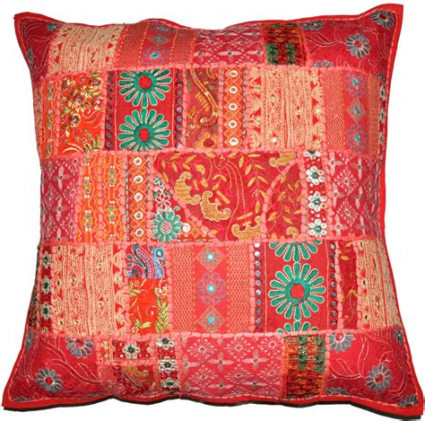 decorative accent pillows 20x20 quot decorative vintage throw pillow embroidered