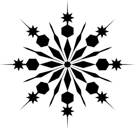 snowflake silhouette clip art at clker com vector clip