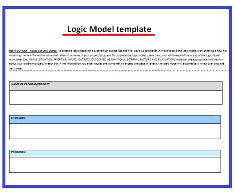 logic templates 11 logic model templates free word templates