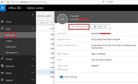 Office 365 Portal Reset Password by Assign Office 365 Business License To Shared Mailbox