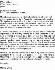 sales associate cover letter sample With example of cover letter for sales associate position