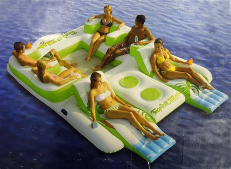 new giant 6 person inflatable lake raft pool float ocean