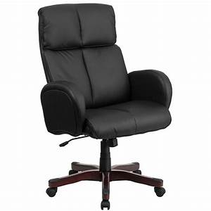 Black, High, Back, Leather, Chair, Bt