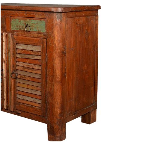 reclaimed wood cabinets allendale rustic reclaimed wood shutter door 2 drawer