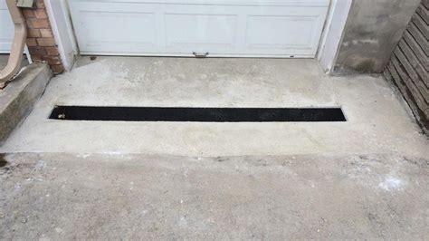 garage drainage solutions garage entrance drainage cam construction project 16