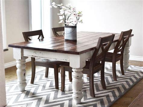 White Kitchen Tables, White Farmhouse Dining Table White