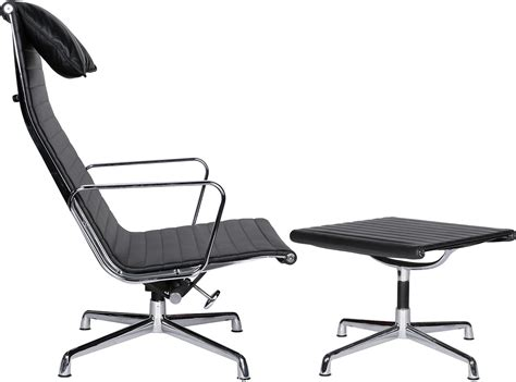 eames office chair ea124 aluminum high back ea125