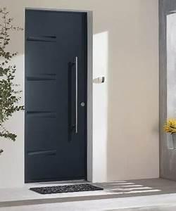 prix dune porte d39entree en acier 2018 travauxcom With porte d entrée pvc avec carrelage bleu salle de bain