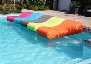 Bain De Soleil Gonflable : matelas de piscine flottant wave gonflable canap pouf ~ Premium-room.com Idées de Décoration