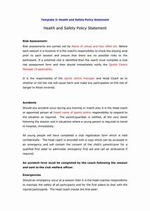 Hse Health And Safety Policy Template Health And Safety Policy Statement Template In Word And Pdf Formats