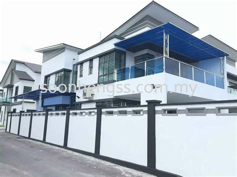 polycarbonate awning stainless steel johor bahru jb skudai malaysia contractor manufacturer