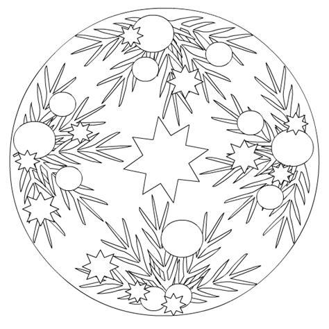 Kleurplaat Mandala Kerst by Kerstmis Kleurplaat Kerts Mandala