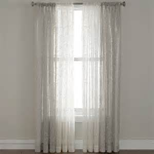 royal velvet 174 bianca embroidered rod pocket sheer panel