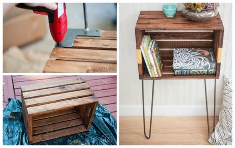 Crate Nightstand Diy by Crate Furniture Ideas White Woodworking Projects