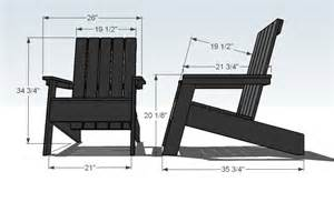 furniture modern style adirondack chair plans free