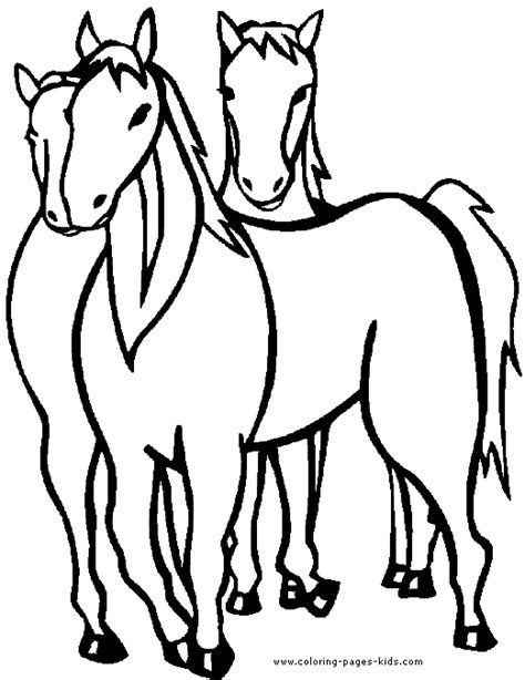 horses coloring page  horses